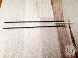 spoelhouder ijzerdraad en wattenstaafje